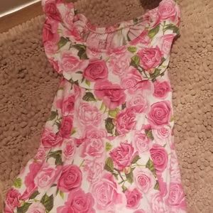 Adorable girls floral print dress